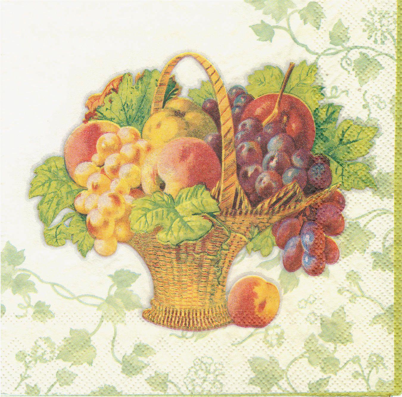 фрукты в вазе картинки для декупажа подбородке ещё