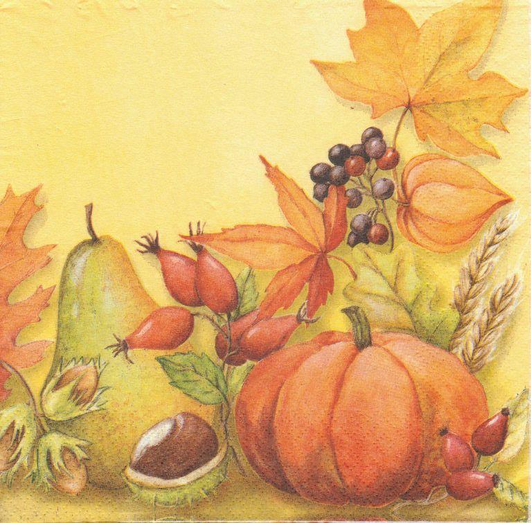 Открытка на тему осень нарисовать